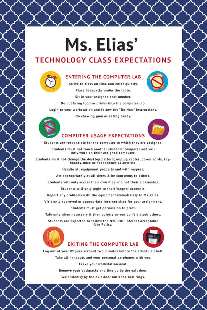 Class Expectations - Ms  Elias Technology @MS167Manhattan